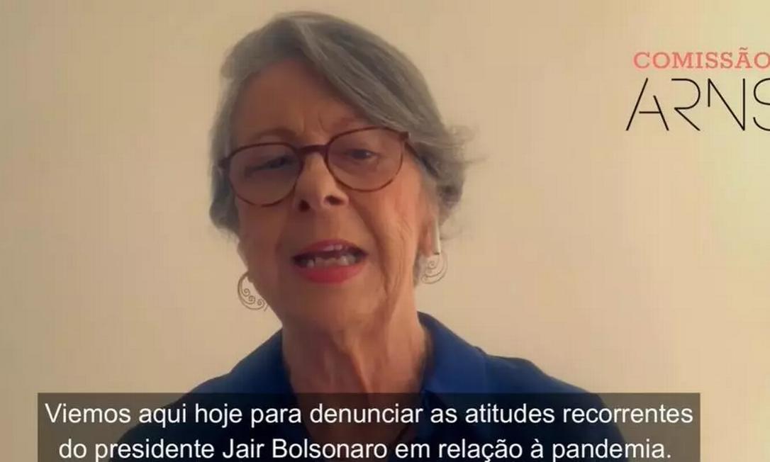 Fundadora da Comissão Arns, Maria Hermínia Tavares de Almeida disse que Bolsonaro é responsável por devastadora tragédia humanitária no Brasil Foto: Comissão Arns