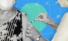 Veja a chegada de vacinas no Brasil Foto: Editoria de arte