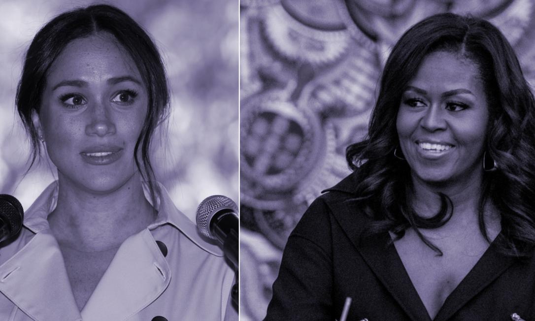 Em entrevista à rede NBC, Michelle Obama afirmou que comentários de Meghan Markle sobre racismo 'não são uma surpresa' Foto: Arte