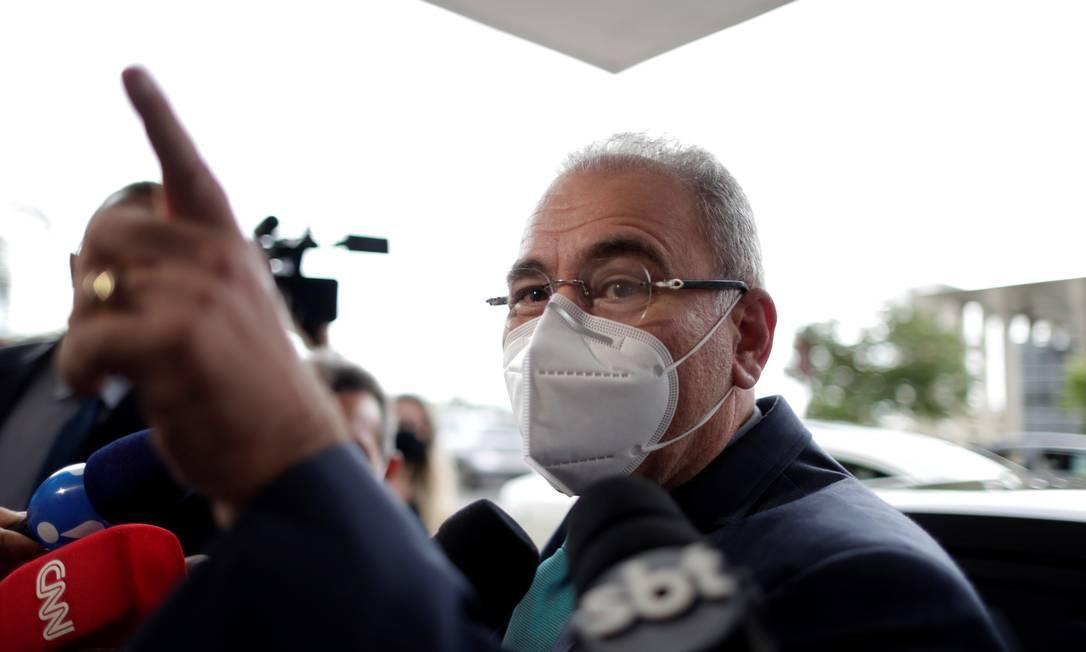 O cardiologista Marcelo Queiroga é o quarto ministro da saúde do governo Bolsonaro Foto: UESLEI MARCELINO / REUTERS