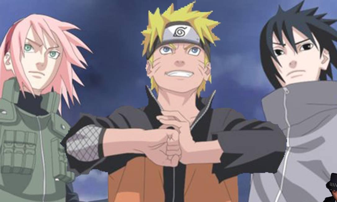 Sakura, Naruto e Sasuke, personagens do clássico 'Naruto'; anime disponível na Netflix e no Crunchyroll Foto: Divulgação