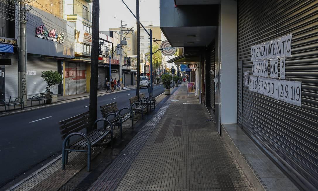 Araraquara foi a primeira cidade do estado de São Paulo a decretar lockdown para conter o avanço da Covid-19 Foto: Edilson Dantas / Agência O Globo
