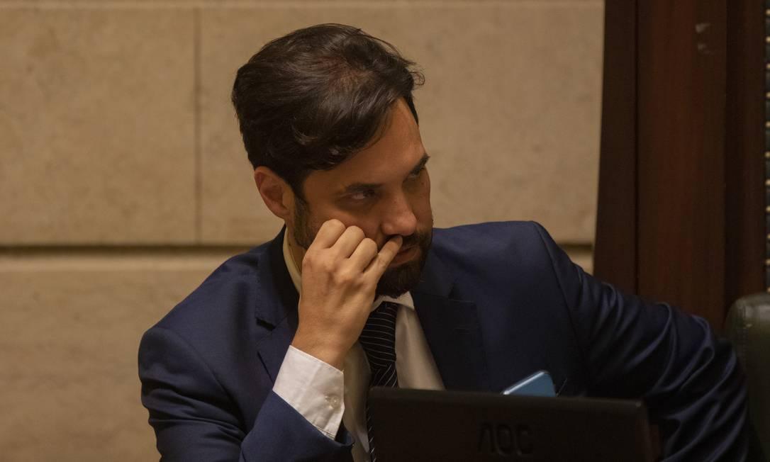 O vereador Dr. Jairinho durante sessão da Câmara em 2019 Foto: Gabriel Monteiro/23.05.2019 / Agência O Globo