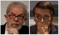 O ex-presidente Luiz Inácio Lula da Silva e o presidente Jair Bolsonaro Foto: Montagem sobre fotos de Reuters e Alexandre Cassiano