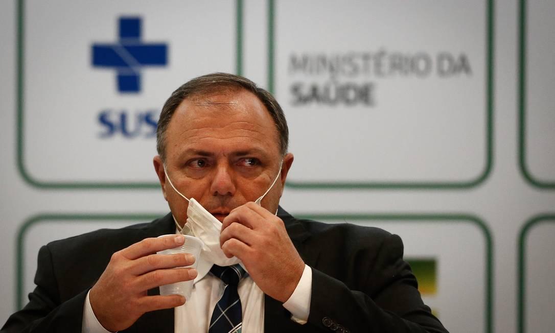 Eduardo Pazuello deixou o cargo após ser substituído pelo médico Marcelo Queiroga Foto: Pablo Jacob / Agência O Globo