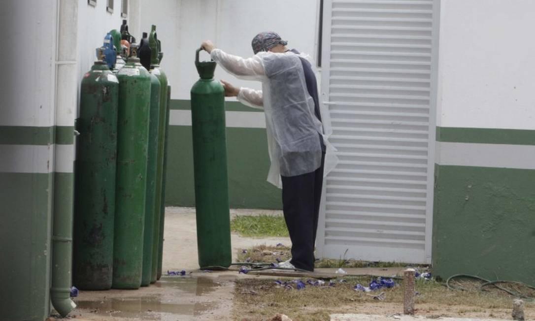 Alta de internações vem provocando aumento da demanda de oxigênio Foto: Código 19 / Agência O Globo