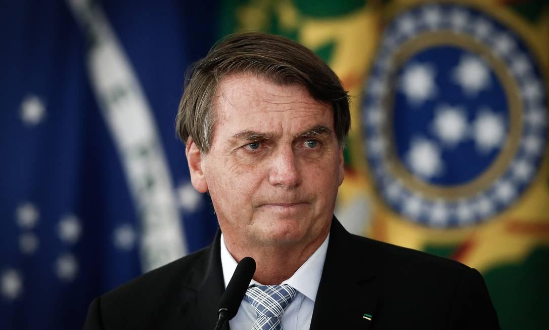 O presidente Jair Bolsonaro é contra medidas restritivas adotadas nos estados Foto: Pablo Jacob/Agência O Globo/10-03-2021