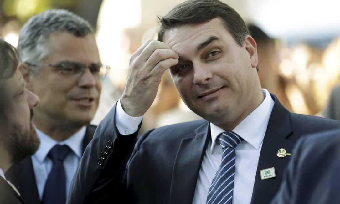 O senador Flávio Bolsonaro (Republicanos-RJ) Foto: Gabriel de Paiva/Agência O Globo