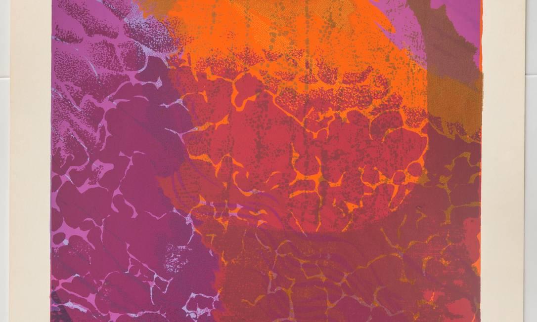 Fayga Ostrower: serigrafia sobre papel de 2001, em cartaz no MAM Foto: Vicente de Mello / Divulgação