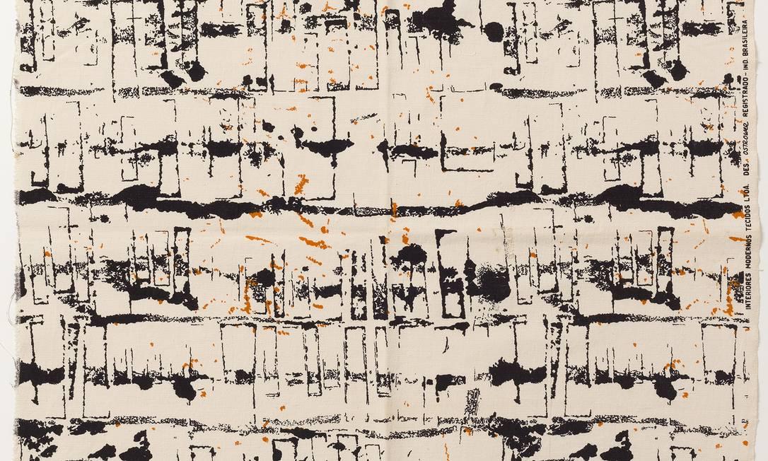 'Composição abstrata' (1953), serigrafia sobre tecido exposta na Pinacoteca Foto: Divulgação
