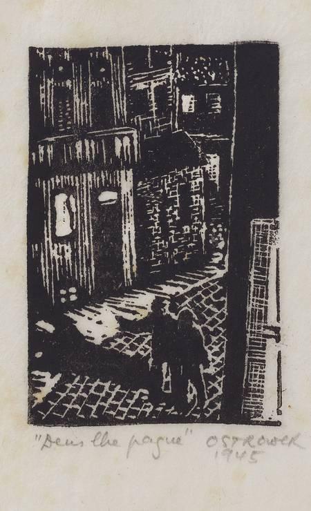 Ilustração para o livro 'Deus lhe pague' (1945), linoleogravura sobre papel, em cartaz na Pinacoteca Foto: Acervo Pinacoteca do Estado de São Paulo