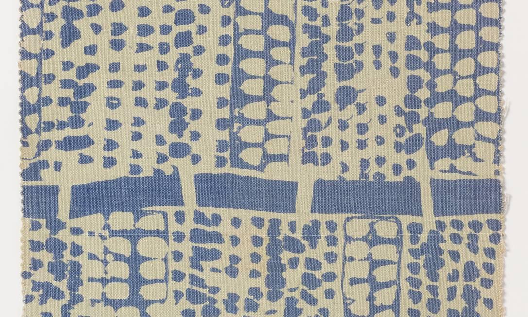 'Bambús' (1953), serigrafia sobre tecido, em cartaz cartaz na Pinacoteca Foto: Acervo Fayga Ostrower