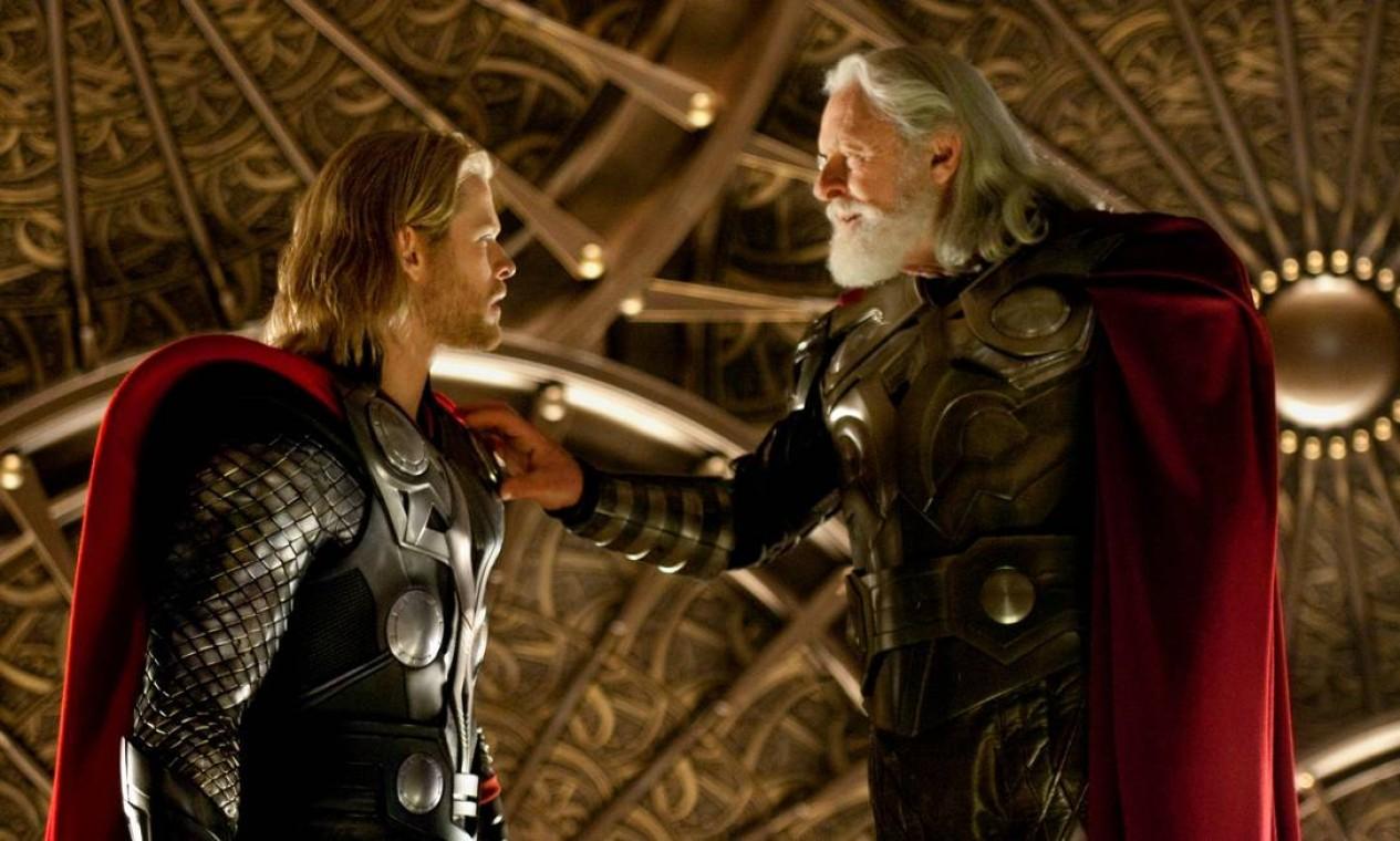 'Thor' (2011): O poderoso e arrogante deus Thor é expulso de Asgard para viver entre os humanos na Terra, mas logo se vê obrigado a defendê-la. Foto: Reprodução