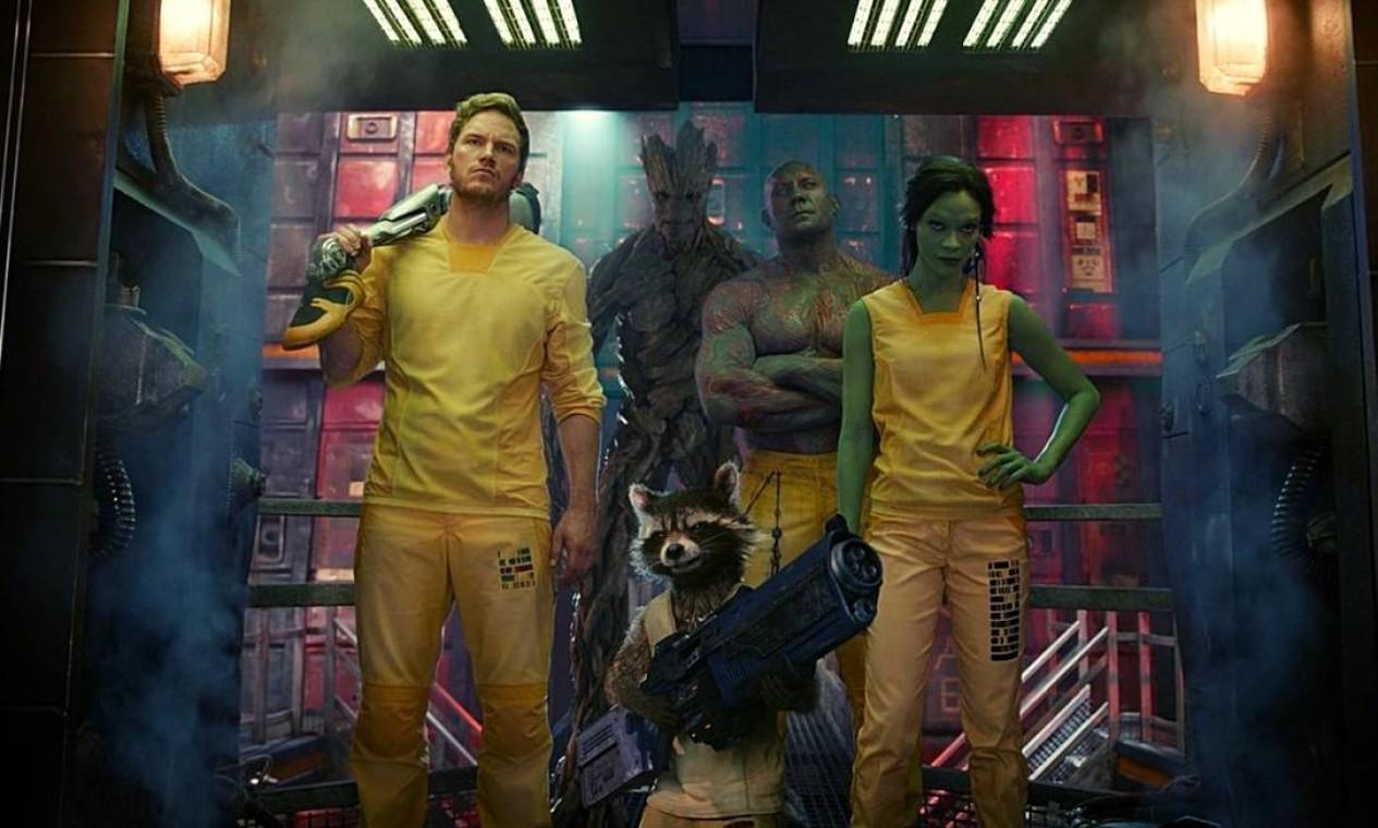 'Guardiões da Galáxia' (2014): Um grupo de criminosos intergalácticos deve se unir para deter um guerreiro fanático com planos de destruir o universo.A Joia do Poder aparece pela primeira vez. Foto: Reprodução