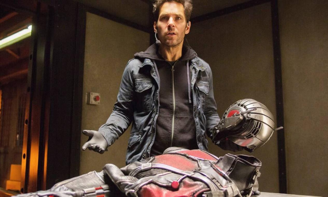 """'Homem-Formiga' (2015): Com um traje que o permite diminuir seu tamanho, o ladrão Scott Lang precisa planejar e realizar um assalto que salvará o mundo. Termina a """"Fase 2"""" do estúdio. Foto: Reprodução"""