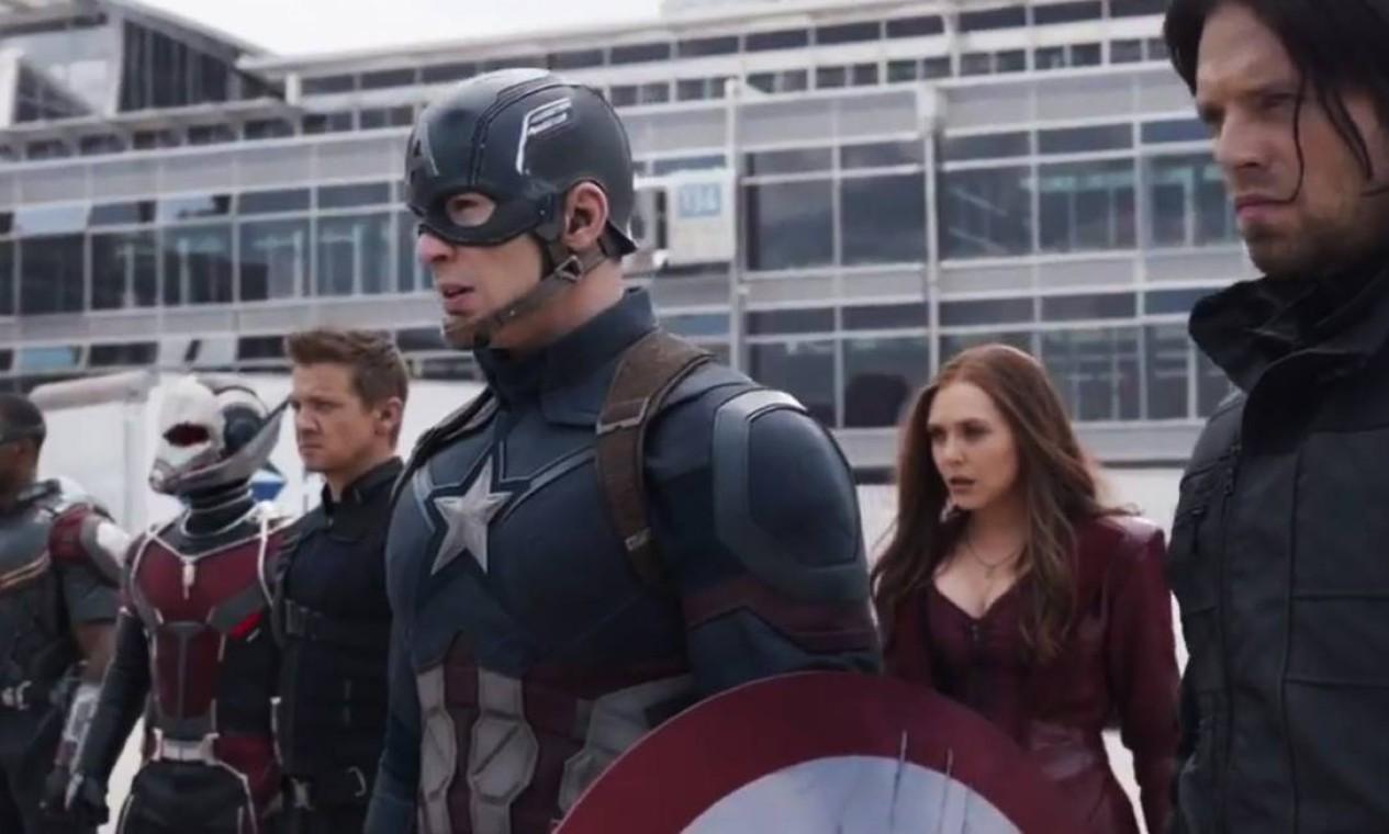 Capitão América: Guerra Civil' (2016): O envolvimento político nos assuntos dos Vingadores causa uma rixa entre o Capitão América e o Homem de Ferro. Homem-Aranha e Pantera Negra são apresentados. Foto: Reprodução