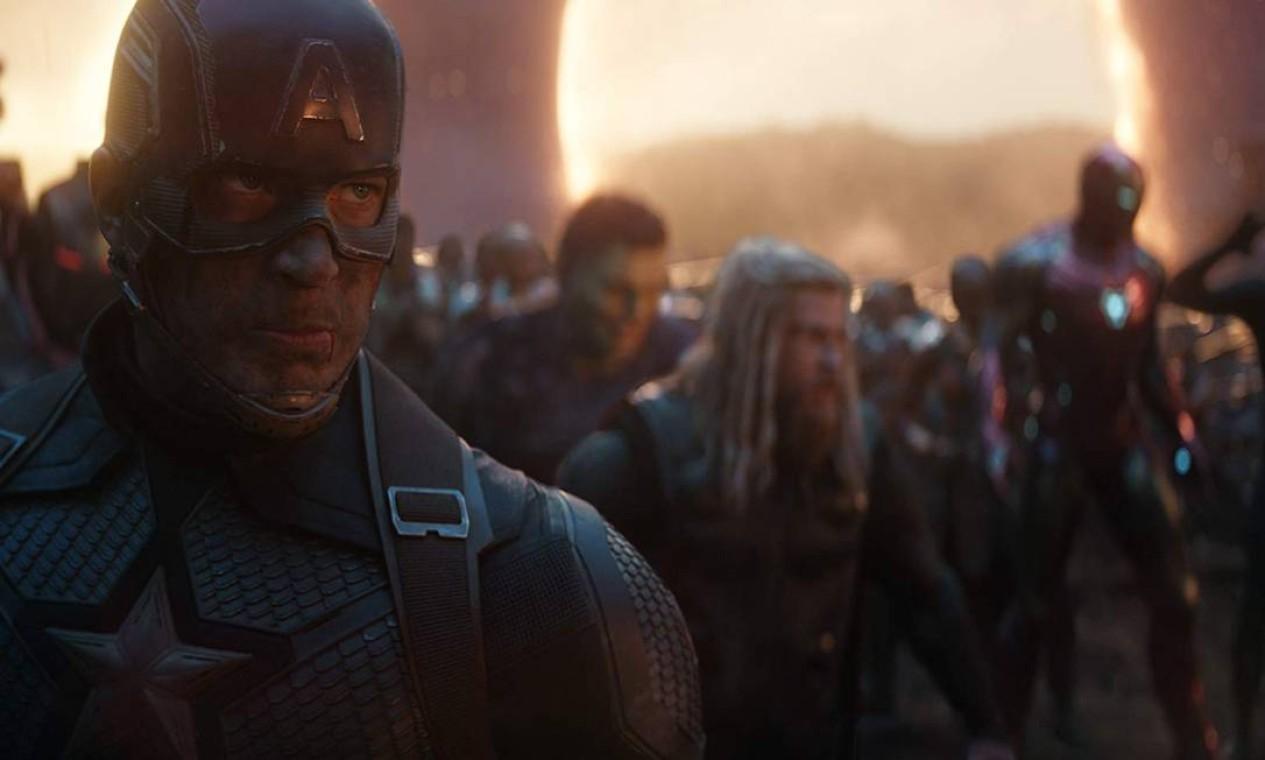 'Vingadores: Ultimato' (2019): Depois dos acontecimentos devastadores de 'Guerra Infinita', o universo está em ruínas. Com a ajuda dos aliados restantes, os Vingadores se reúnem mais uma vez para reverter as ações de Thanos e restaurar o equilíbrio do universo. Foto: Reprodução