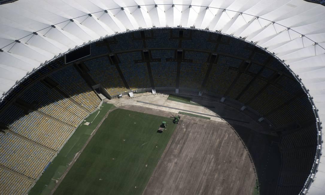 Vista aérea do estádio do Maracanã Foto: Delmiro Junior/Photo Premium / Agência O Globo