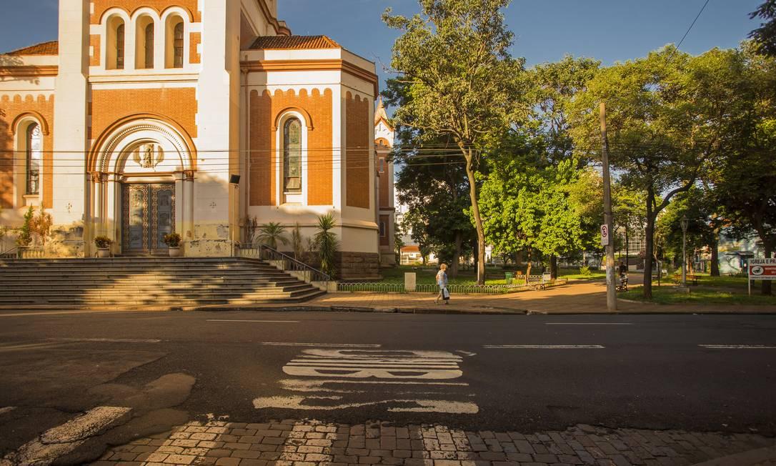 Ruas vazias no Centro de Ribeirão Preto durante lockdown para conter transmissão do novo coronavírus. Foto: Edilson Dantas / Agência O Globo