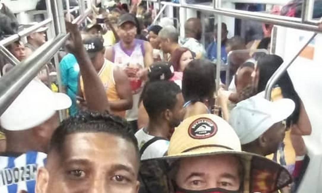 Trem do Rio vira palco de 'Baile Funk' convocado pelas redes sociais Foto: Reprodução Redes Sociais