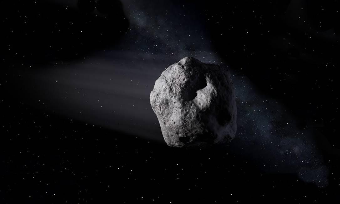 Ilustração de um asteroide próximo à Terra Foto: NASA / JPL-Caltech