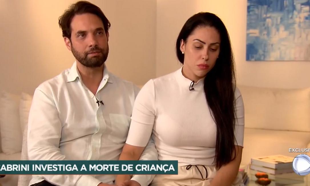 Jairinho e Monique em entrevista ao 'Domingo Espetacular' Foto: Reprodução / TV Record