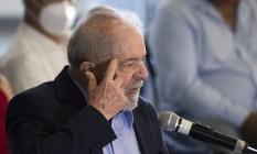 O ex-presidente Luiz Inácio Lula da Silva 10/03/2021 Foto: Edilson Dantas / Agência O Globo