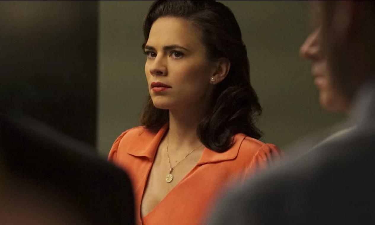 'Agente Carter' (2015-2016): Em 1946, após a guerra, Peggy Carter se une a Edwin Jarvis para livrarem Howard Stark de acusações de traição. A personagem volta a aparecer em 'Vingadores: Ultimato'. Foto: Reprodução