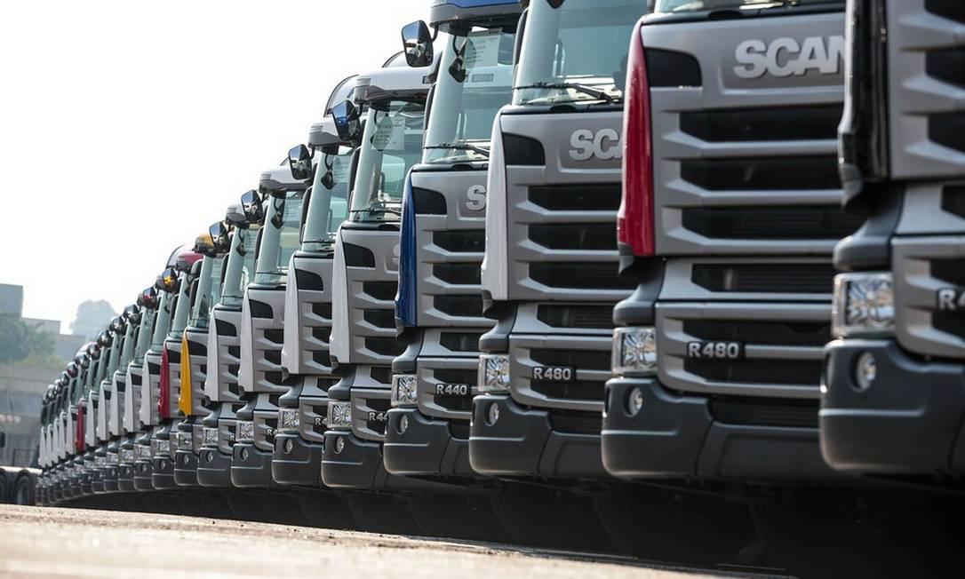 A montadora Scania vai interromper a produção de caminhões em São Bernardo do Campo, no ABC paulista, a partir do dia 26 Foto: Divulgação/Scania