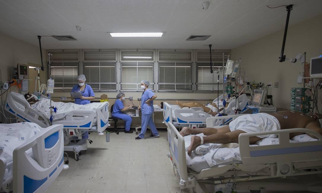 UTI do Hospital das Clínicas de Ribeirão Preto Foto: Edilson Dantas/Agência O Globo/18-03-2021