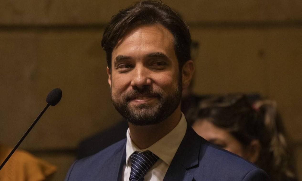 Dr. Jairinho na Câmara dos Vereadores do Rio. Ele era padrasto de Henry Foto: Gabriel Monteiro / Agência O Globo - 23/05/2019