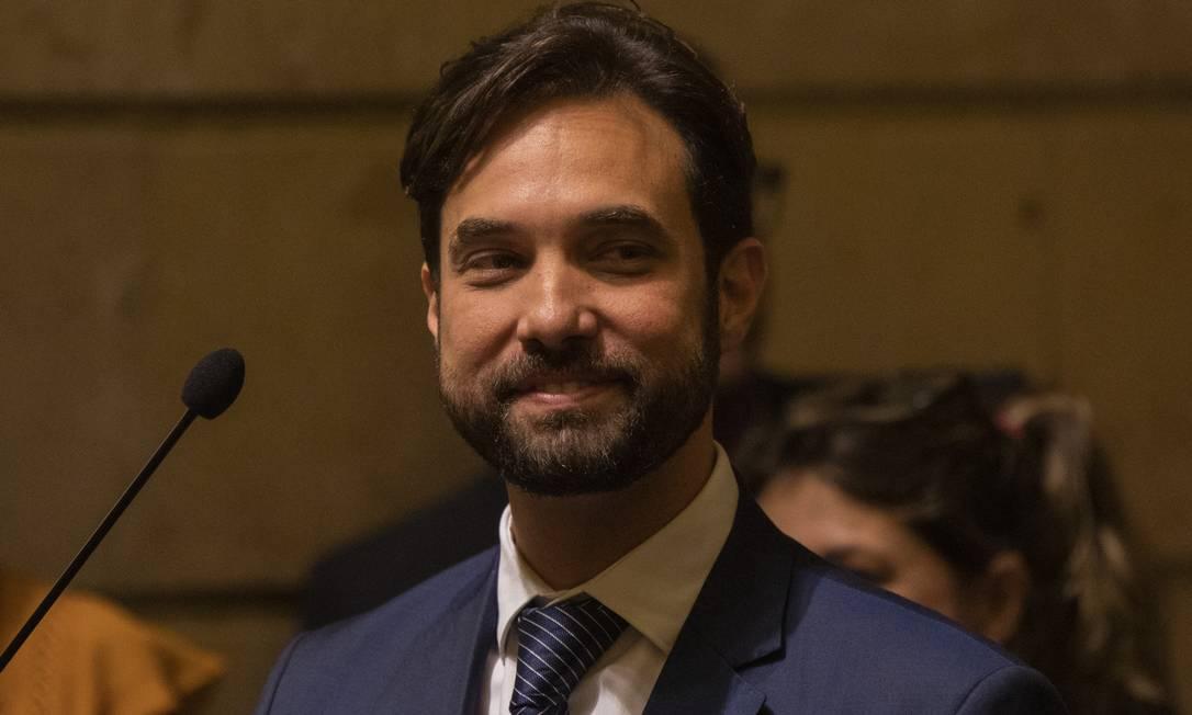 Dr. Jairinho na Câmara dos Vereadores do Rio. Ele eta padrasto de Henry Foto: Gabriel Monteiro / Agência O Globo - 23/05/2019