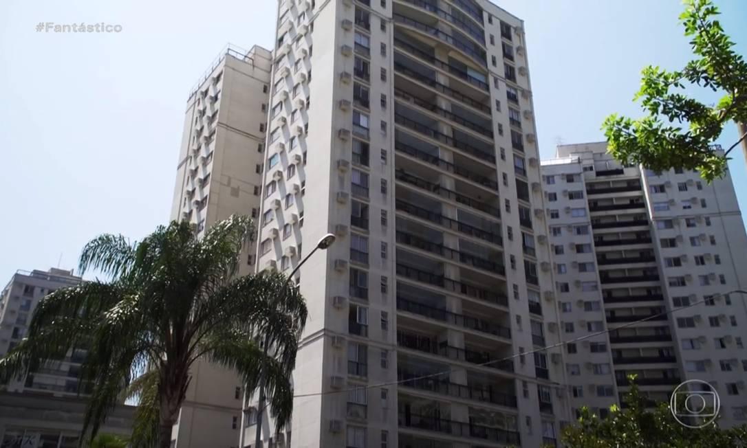 Edifício Majestic, na Barra da Tijuca, Zona Oeste do Rio, onde o menino Henry vivia com a mãe e o padrasto Foto: Reprodução / TV Globo