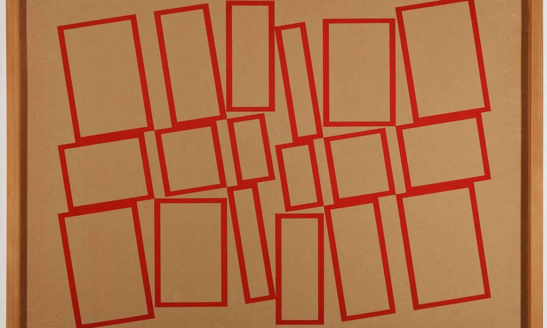 """Detalhe de """"Metaesquema"""", uma das obras de Hélio Oiticica em exposição virtual no MAM Foto: Jaime Acioli / Divulgação"""