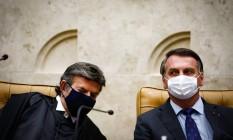 Luiz Fux e Jair Bolsonaro Foto: Pablo Jacob/Agência O Globo