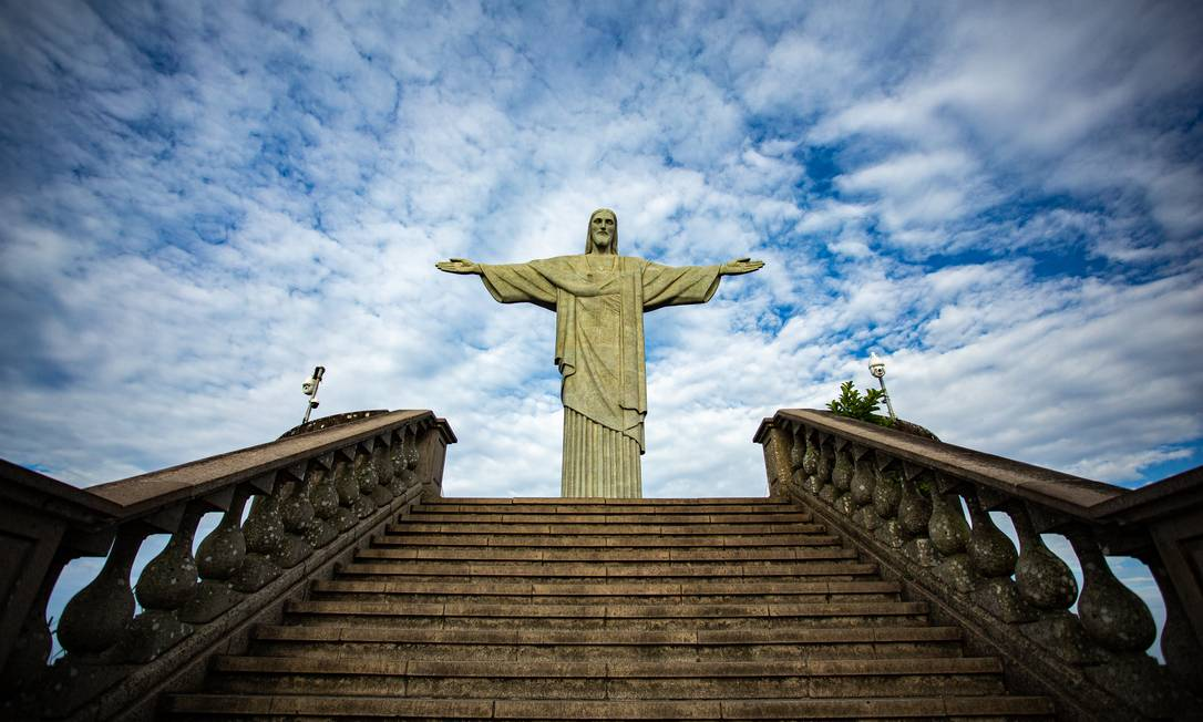 O Cristo Redentor Foto: Hermes de Paula / Agência O Globo / 25-02-2021