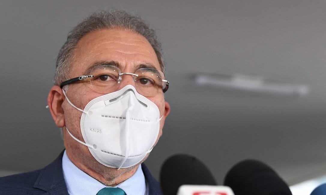 O novo ministro da Saúde, Marcelo Queiroga Foto: Evaristo Sá / AFP