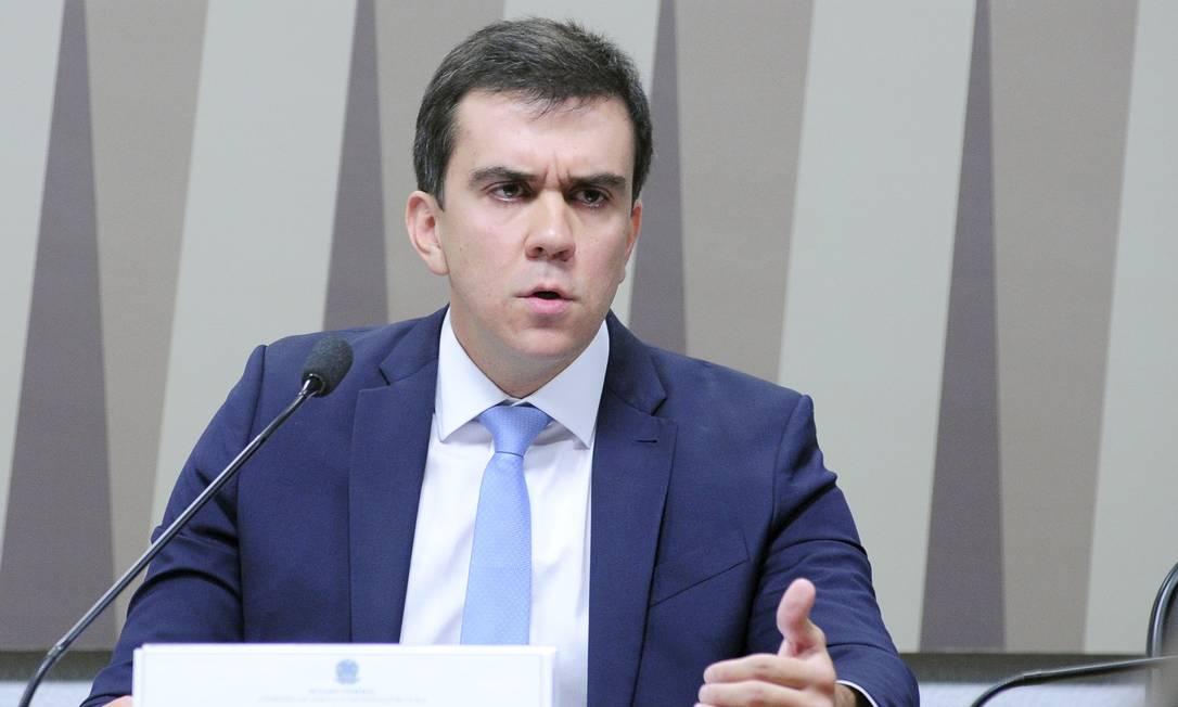 Rodrigo Limp participa de sabatina no Senado, quando foi indicado para a Aneel Foto: Pedro França/Agência Senado/15-05-2018