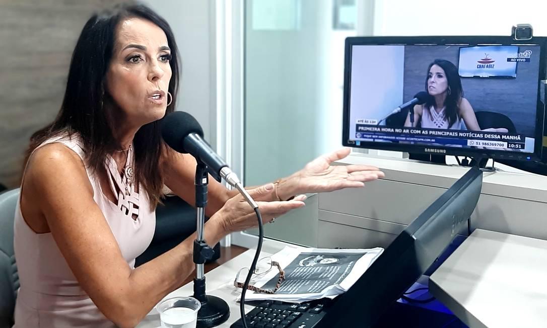 Eliane Scherer falou em rádio local de Camaquã sobre nebulização com cloroquina Foto: Radio Acústica FM
