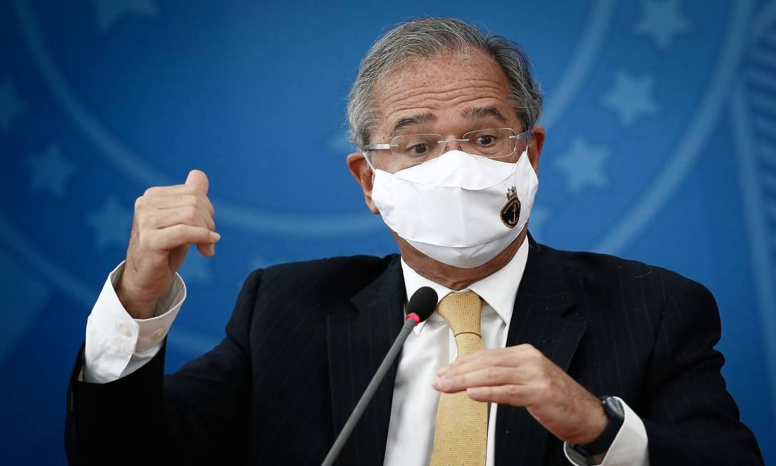 O ministro da Economia, Paulo Guedes Foto: Pablo Jacob/Agência O Globo