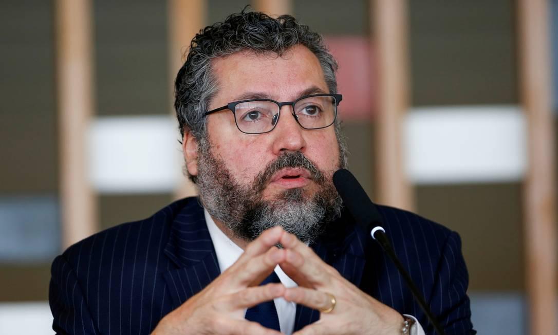 O ministro de Relações Exteriores, Ernesto Araújo Foto: Adriano Machado / Reuters