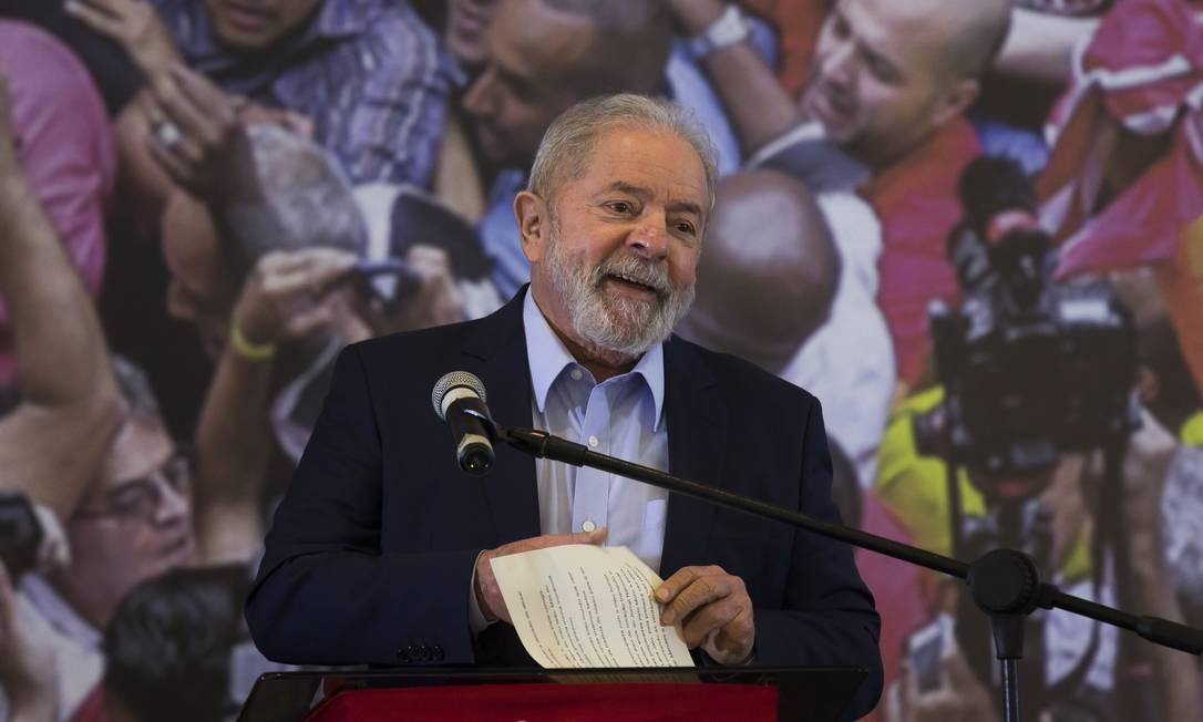 Ex-presidente Luiz Inácio Lula da Silva Foto: Edilson Dantas / Agência O Globo
