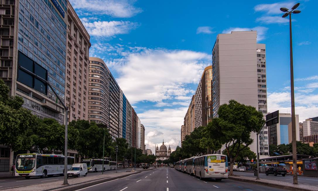 Promessa de sofisticação. A Avenida Presidente Vargas é uma das áreas da região que devem passar por uma verdadeira revolução imobiliária Foto: Getty Images