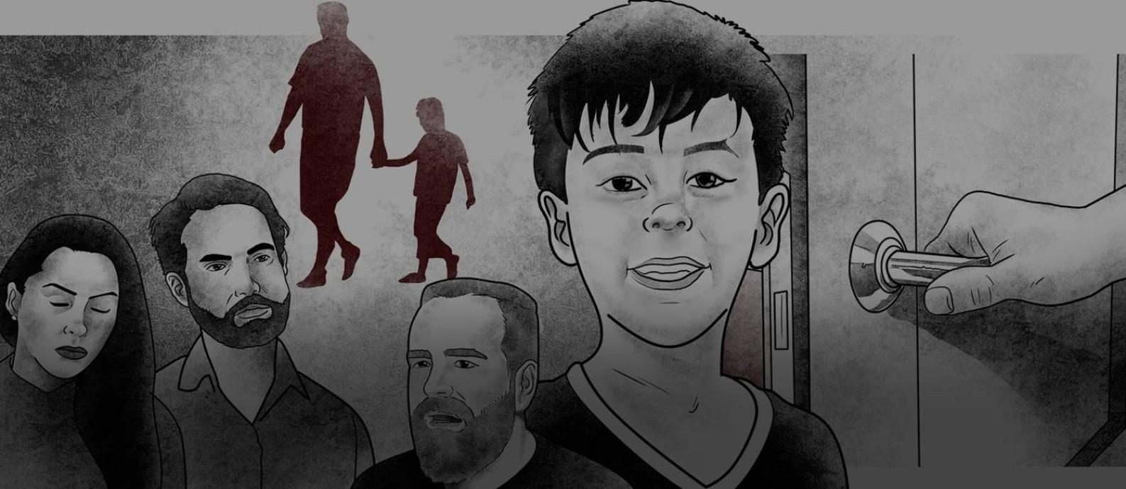 Ilustração do caso Henry Foto: André Mello - Editoria de Arte