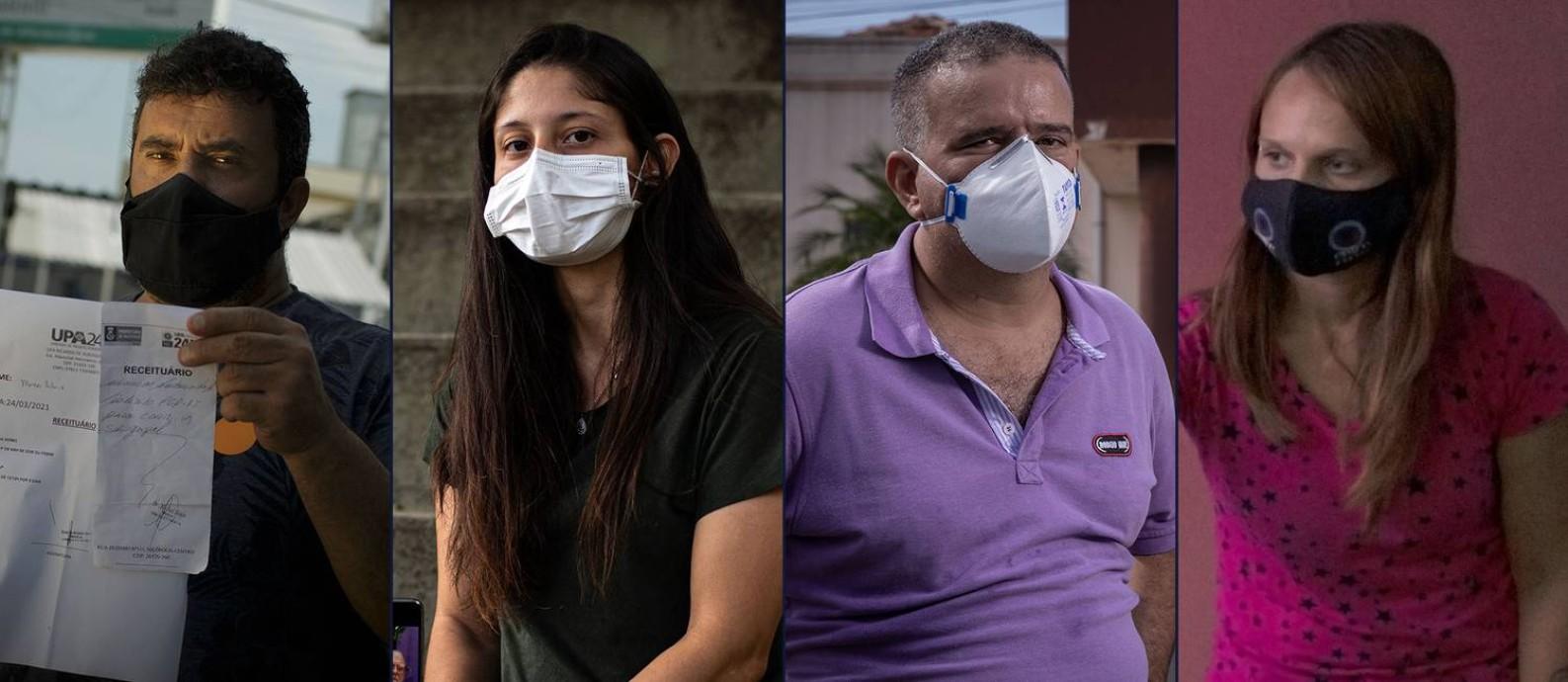 A luta dos doentes e seus familiares para sobreviver à Covid-19 sem leitos para todos no Brasil Foto: Arte