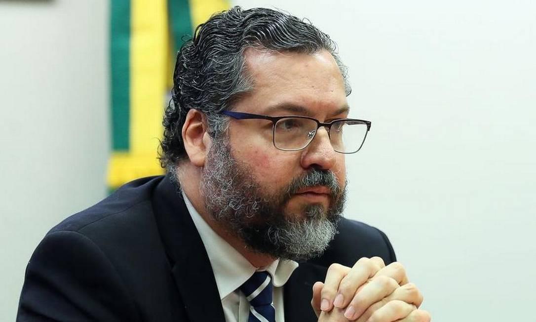 Ernesto Araújo, ministro das Relações Exteriores Foto: José Cruz/Agência Brasil