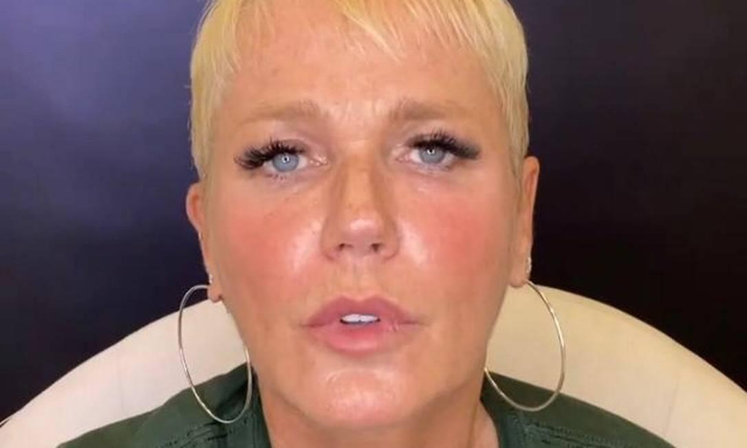 Xuxa pediu desculpas em vídeo Foto: Reprodução