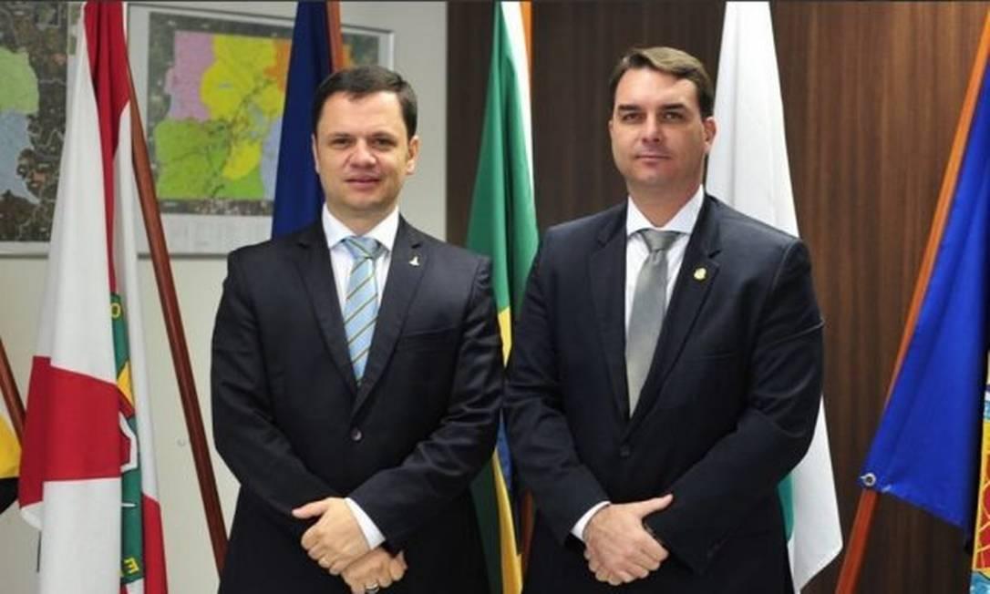 Anderson Torres e Flávio Bolsonaro Foto: Reprodução