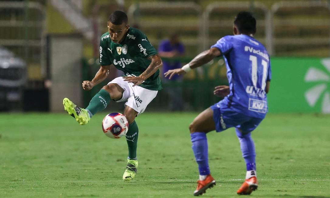 Palmeiras e São Bento jogaram em Volta Redonda pelo Campeonato Paulista Foto: Cesar Greco/Palmeiras