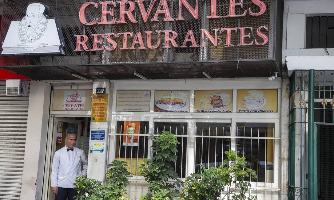 O restaurante Cervantes de Copacabana vai fechar temporariamente as portas Foto: Antonio Scorza / O Globo - 29.01.2020